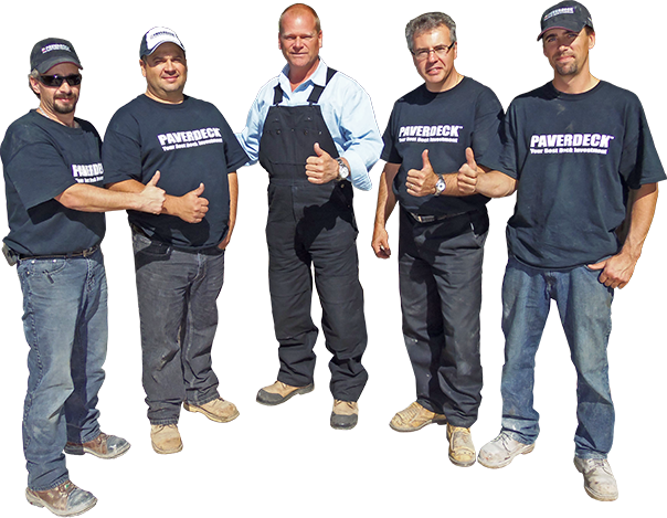 Mike Holmes and the Paverdeck crew